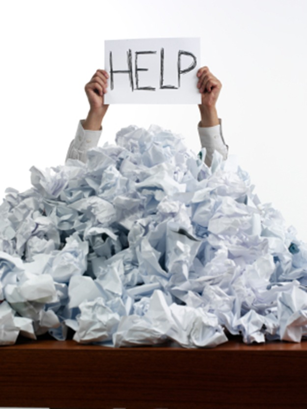 Manual OEE Data typically leads to a paper mountain